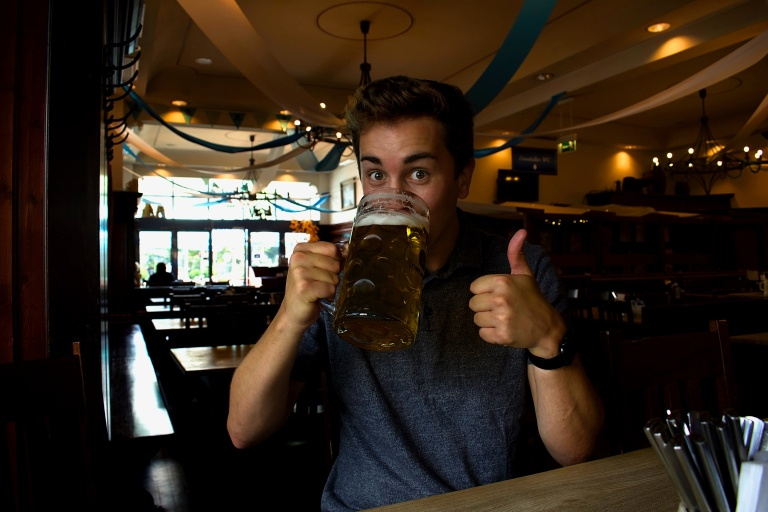 Rory and a Litre of Beer.jpg